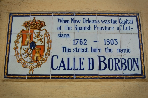 Old Bourbon Street Sign
