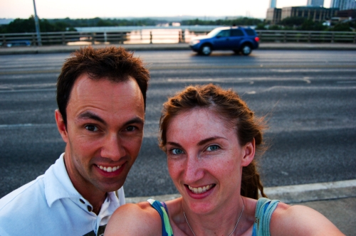 Us on Congress Ave Bridge