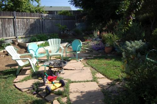 Aimee and Tim's backyard