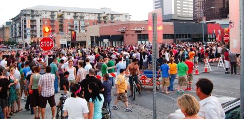 Pride Parade crowd