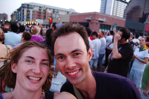 Us at the Pride Parade