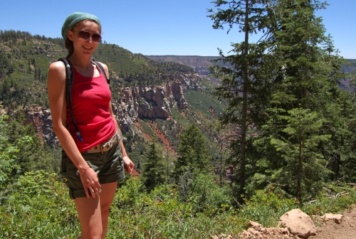 Me at the top of the North Kaibab trail