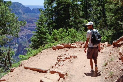 Steve on the North Kaibab Trail