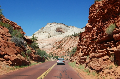 Drive through Zion National Park