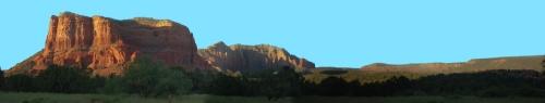 Red rock mountain panorama