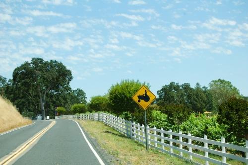 Farmer crossing