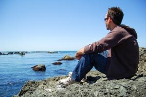 Steve and the ocean