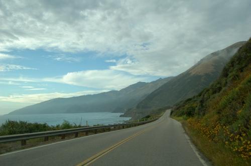 Coastal drive - ocean and hills