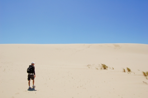 Steve and the vast dunes