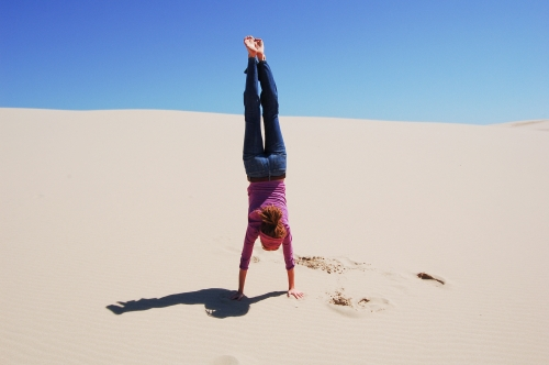 Hand-stand!