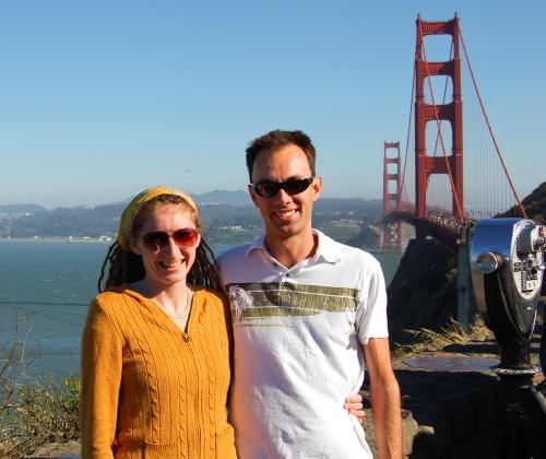 Us at the Golden Gate bridge