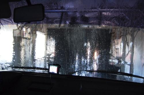 Amelia at the car wash