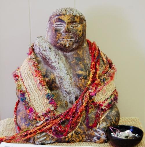 Statue at the studio