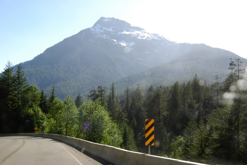 Mountains along the drive to Tofino