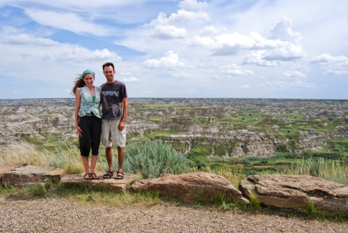Us at Dinosaur Provincial Park