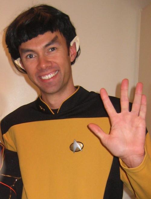 Steve as Spock