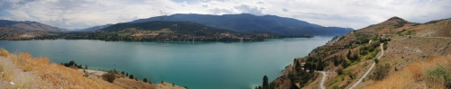 Okanagan lake panorama