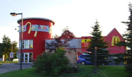 McDonald's with a silo