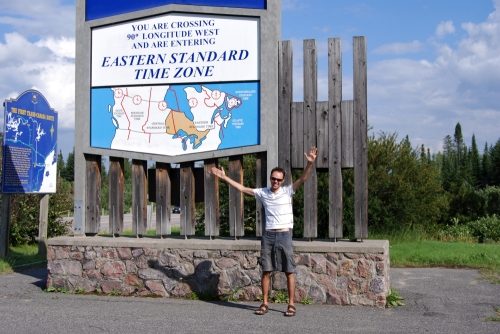Crossing the Eastern Standard Time Zone