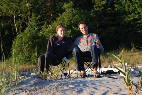 Cheers on the beach!