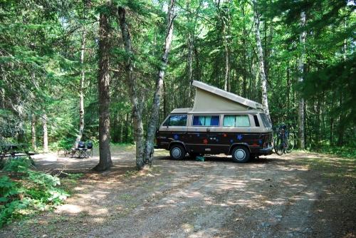 Our campsite at Neys Provincial Park