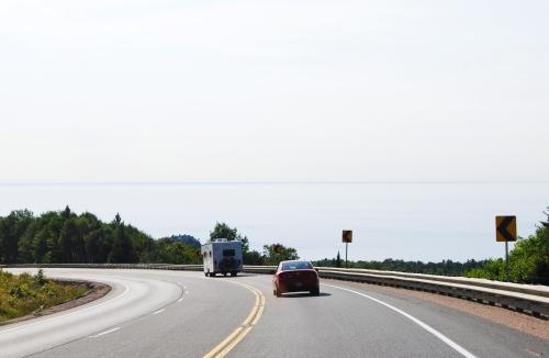 Lake Superior meets the sky