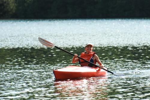 Mom kayaaking