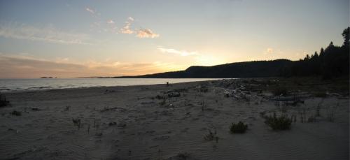Sunset on Neys beach