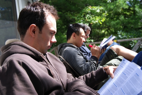 The guys reading