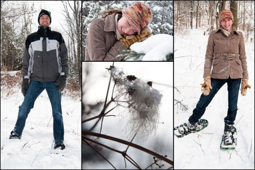 snowshoe collage