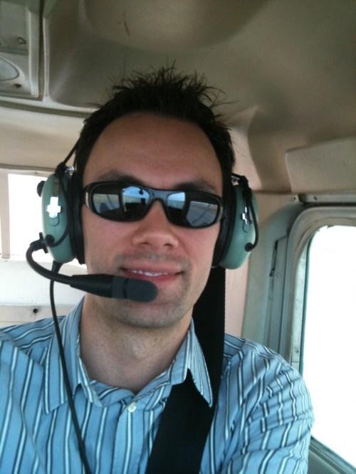 Steve in a plane
