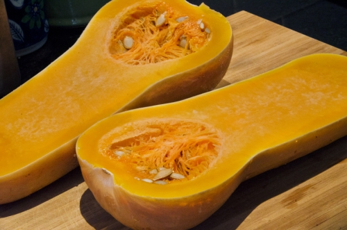 Microwave the butternut squash