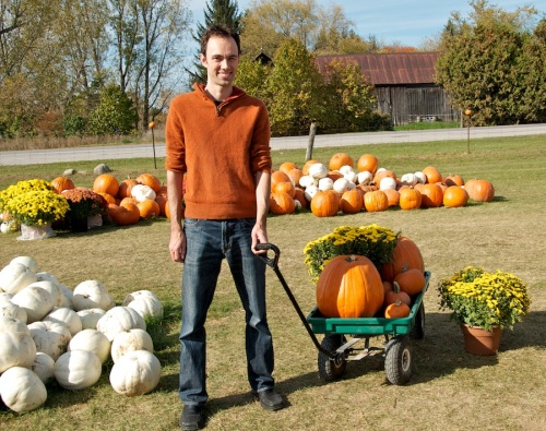Steve with our pumpkins
