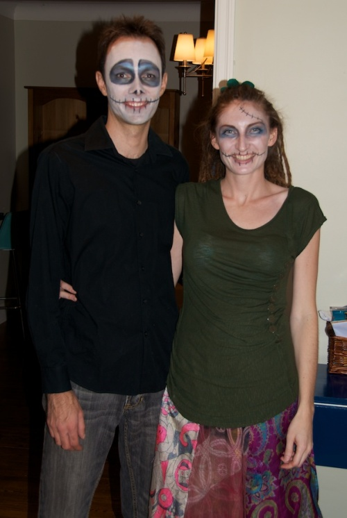 Steve and I as Nightmare Before Christmas characters