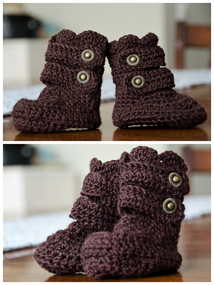 Crochet baby booties for girls |
